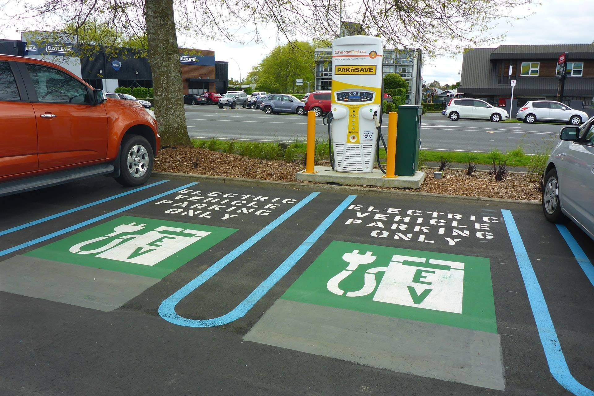 Charging place for electrical cars